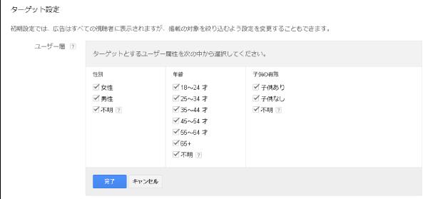 ユーザー層のターゲット設定